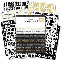 Scrapbook.com - Sticker Book - Black & White with Gold Foil Accents