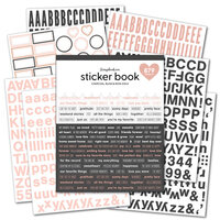 Scrapbook.com - Sticker Book - Charcoal & Blush with Rose Gold Foil Accents