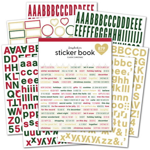 Scrapbook.com - Sticker Book - Classic Christmas with Gold Foil Accents
