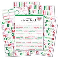 Scrapbook.com - Sticker Book - Peppermint Christmas with Silver Foil Accents