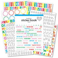 Scrapbook.com - Sticker Book - Rainbow with Holographic Silver Foil Accents