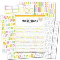Scrapbook.com - Sticker Book - Rainbow Sherbet with Iridescent Foil Accents