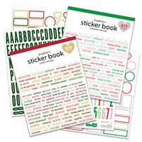 Scrapbook.com - Sticker Book Bundle - Classic Christmas + Peppermint Christmas - 2 Pack
