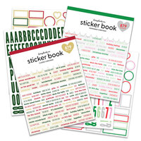 Scrapbook.com - Sticker Book Bundle - Christmas with Foil Accents - 2 Pack