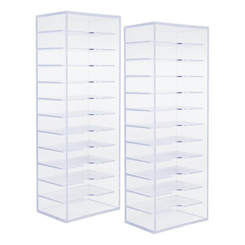 Scrapbook.com - Ink Pad Storage - Clear - 2 Pack