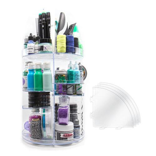 Scrapbook.com - 360 Craft Tower - Rotating Organizer - 8 Shelves - Clear