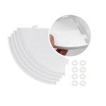 Scrapbook.com - 360 Craft Tower - 4 Extra Shelves - White