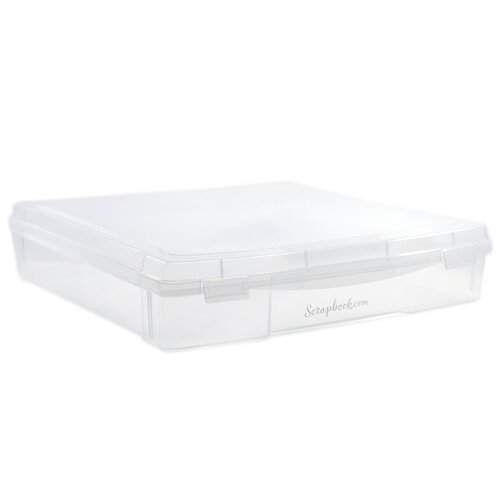 Scrapbook.com - Clear Craft Storage Case - Project Box - 12x12