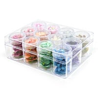 Scrapbook.com - Embellishment Jars - 12 Pieces with Storage Case - Large