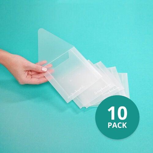 Scrapbook.com - Storage Envelopes - Plastic - 4.75 x 4.75 - Small - 10 Pack