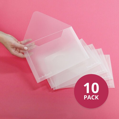 Scrapbook.com - Storage Envelopes - Plastic - 6 x 8.75 - Medium - 10 Pack