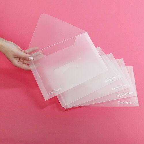 Scrapbook.com - Storage Envelopes - Plastic - 6 x 8.75 - Medium - 5 Pack