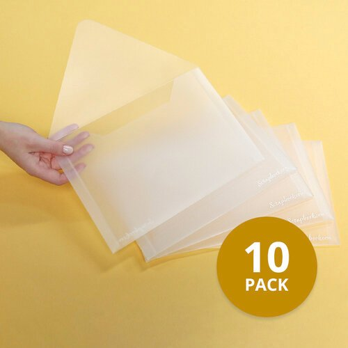 Scrapbook.com - Storage Envelopes - Plastic - 7x10 - Large - 10 Pack