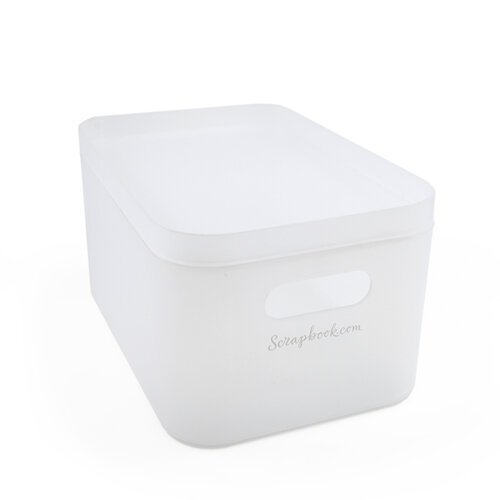 Scrapbook.com - Storage Bin with Lid - Frost