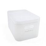 Scrapbook.com - Storage Bin with Lid - Frost
