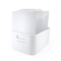 Scrapbook.com - Storage Bin with 7 Tabbed Dividers - Complete Set - White with White Inserts