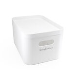 Scrapbook.com - Storage Bin with Lid - White