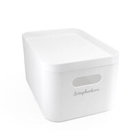 Scrapbook.com - Storage Bin with Lid - White