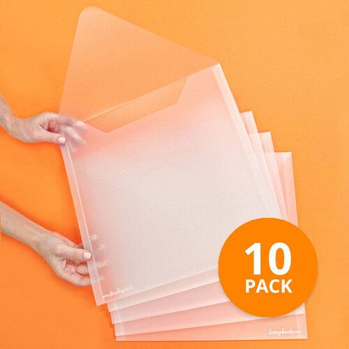 Scrapbook - Storage Envelopes - Plastic - 13x13 - Extra Large - 10 Pack