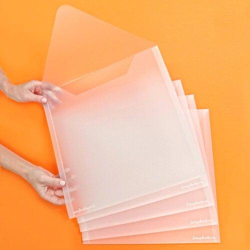 Scrapbook.com - Storage Envelopes - Plastic - 13x13 - Extra Large - 5 Pack