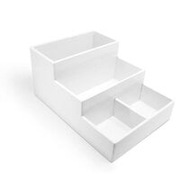 Scrapbook.com - Craft Room Basics - Stadium Organizer - 4 Compartments - White