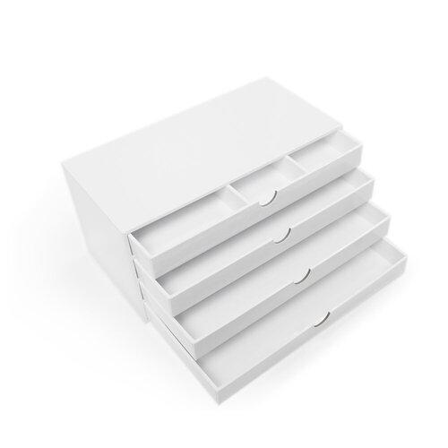 Scrapbook.com - Craft Room Basics - 4 Drawer Organizer - White