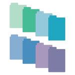 Scrapbook.com - Tabbed Dividers with Labels - 3x4 - Cools - 8 Piece Set