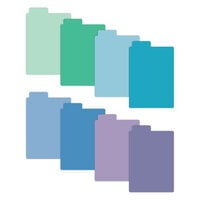 Scrapbook.com - Tabbed Dividers with Labels - 3x4 - Cools - 8 Piece Set