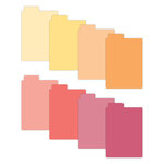 Scrapbook.com - Tabbed Dividers with Labels - 3x4 - Warms - 8 Piece Set