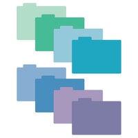 Scrapbook.com - Tabbed Dividers with Labels - 4x6 - Cools - 8 Piece Set