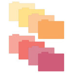 Scrapbook.com - Tabbed Dividers with Labels - 4x6 - Warms - 8 Piece Set