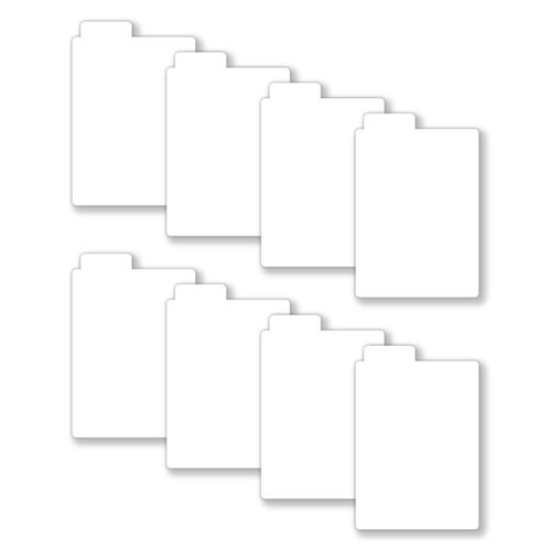 Scrapbook.com - Tabbed Dividers with Labels - 3x4 - White - 8 Piece Set