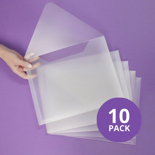 Scrapbook.com - Storage Envelopes - Plastic - 9 x 11.5 - Letter Size - 10 Pack
