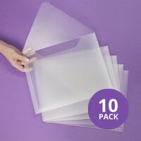 Scrapbook.com - Storage Envelopes - Plastic - 9 x 11.5 - Letter Size - 10 Pack