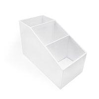 Scrapbook.com - Craft Room Basics - Tall Skinny Stadium Organizer - 3 Compartments - White
