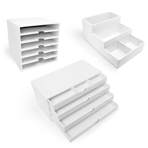 Scrapbook.com - Craft Room Basics - 3 Pack Bundle - White