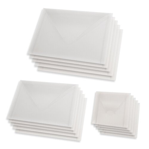 Scrapbook.com - Storage Envelopes - Plastic - Three Sizes - Variety - 15 Pack