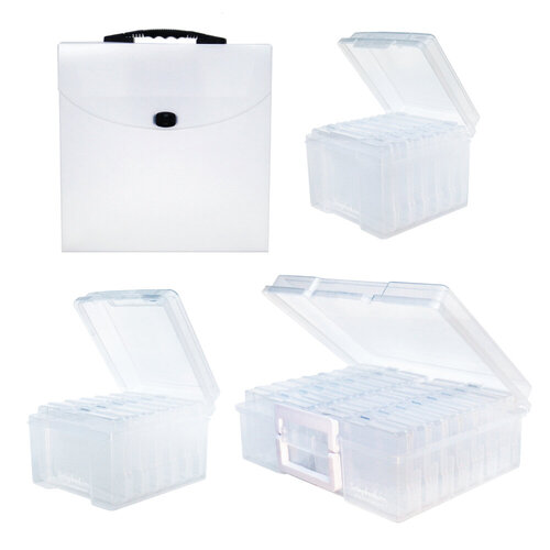 Scrapbook.com - Clear Craft Storage - Storage Bundle