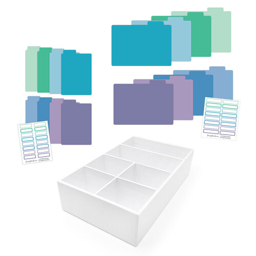 Scrapbook.com - Craft Room Basics - Pocket Cards Organizer - with Tabbed Dividers - Cools
