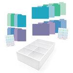 Scrapbook.com - Craft Room Basics - Pocket Cards Organizer - with Tabbed Dividers - Cools