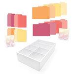 Scrapbook.com - Craft Room Basics - Pocket Cards Organizer - with Tabbed Dividers - Warms