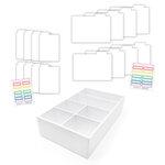 Scrapbook.com - Craft Room Basics - Pocket Cards Organizer - with Tabbed Dividers - White