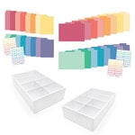 Scrapbook.com - Craft Room Basics - Pocket Cards Organizer - 2 Pack - with Tabbed Dividers - Warms and Cools