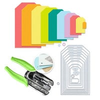 Scrapbook.com - We R Crop-A-Dile Power Punch and Die Bundle - Nested Jumbo Tags