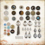 Tim Holtz - Idea-ology - Embellishment Kit - Buttons and Baubles