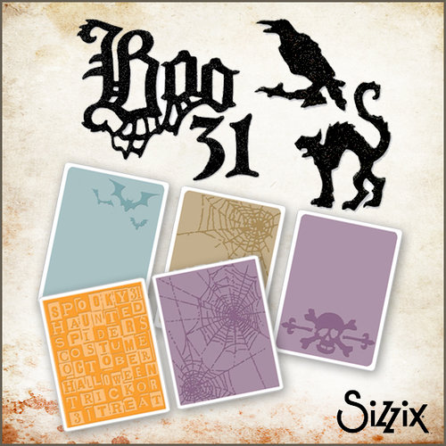 Sizzix - Tim Holtz - Halloween - Die Cutting and Embossing Kit - Gothic Graveyard