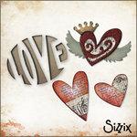 Sizzix - Tim Holtz - Die Cutting Kit - Love Birds