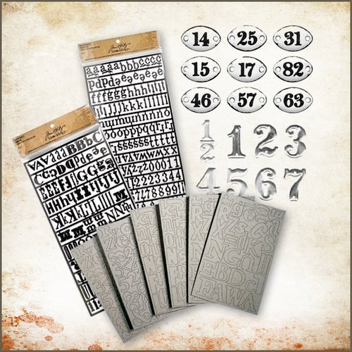 Tim Holtz - Idea-ology - Alphabets and Numbers Kit - Old School