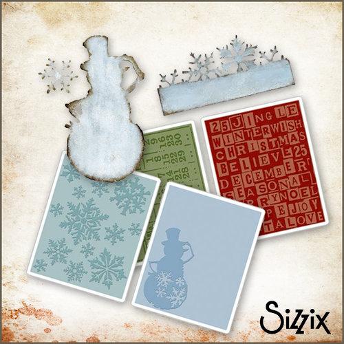 Sizzix - Tim Holtz - Die Cutting and Embossing Kit - Winter Wonderland