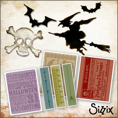 Sizzix - Tim Holtz - Halloween - Die Cutting and Embossing Kit - Witching Hour